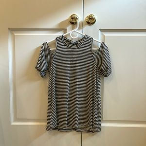 BCBGeneration Striped Blouse